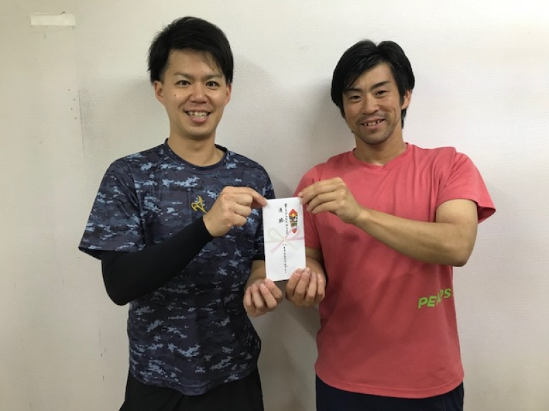 Aクラス優勝 平塚・西岡ペア